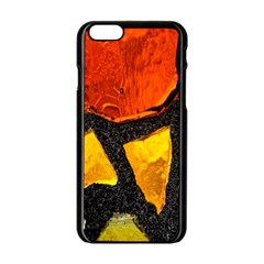 Colorful Glass Mosaic Art And Abstract Wall Background Apple Iphone 6/6s Black Enamel Case by Amaryn4rt
