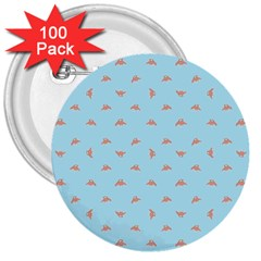 Spaceship Cartoon Pattern Drawing 3  Buttons (100 Pack)  by dflcprints