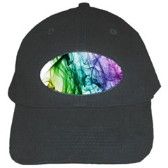Colour Smoke Rainbow Color Design Black Cap by Amaryn4rt