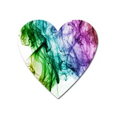 Colour Smoke Rainbow Color Design Heart Magnet by Amaryn4rt