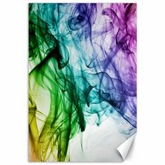Colour Smoke Rainbow Color Design Canvas 12  X 18