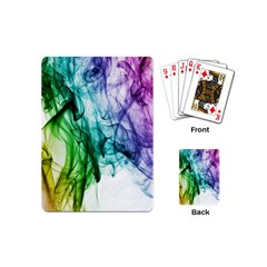 Colour Smoke Rainbow Color Design Playing Cards (mini)  by Amaryn4rt