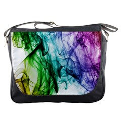 Colour Smoke Rainbow Color Design Messenger Bags by Amaryn4rt