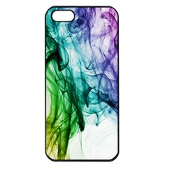 Colour Smoke Rainbow Color Design Apple Iphone 5 Seamless Case (black) by Amaryn4rt