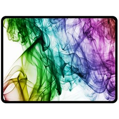 Colour Smoke Rainbow Color Design Double Sided Fleece Blanket (large)  by Amaryn4rt