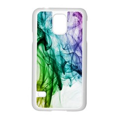 Colour Smoke Rainbow Color Design Samsung Galaxy S5 Case (white) by Amaryn4rt