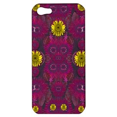 Colors And Wonderful Sun  Flowers Apple Iphone 5 Hardshell Case by pepitasart