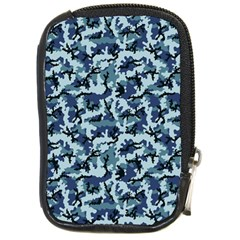 Navy Camouflage Compact Camera Cases by sifis