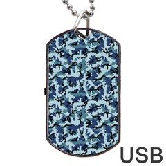 Navy Camouflage Dog Tag Usb Flash (one Side) by sifis