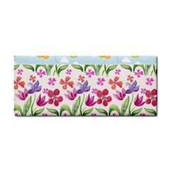 Watercolor Flowers And Butterflies Pattern Cosmetic Storage Cases by TastefulDesigns