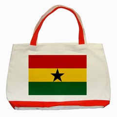 Flag Of Ghana Classic Tote Bag (red) by abbeyz71