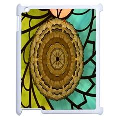 Kaleidoscope Dream Illusion Apple Ipad 2 Case (white) by Amaryn4rt