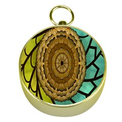 Kaleidoscope Dream Illusion Gold Compasses by Amaryn4rt