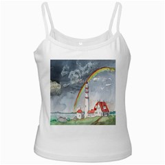 Watercolour Lighthouse Rainbow Ladies Camisoles by Amaryn4rt