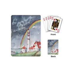 Watercolour Lighthouse Rainbow Playing Cards (mini)  by Amaryn4rt