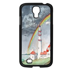 Watercolour Lighthouse Rainbow Samsung Galaxy S4 I9500/ I9505 Case (black) by Amaryn4rt