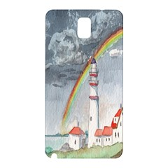 Watercolour Lighthouse Rainbow Samsung Galaxy Note 3 N9005 Hardshell Back Case by Amaryn4rt