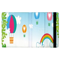 Landscape Sky Rainbow Garden Apple Ipad 2 Flip Case by Amaryn4rt