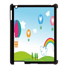 Landscape Sky Rainbow Garden Apple Ipad 3/4 Case (black) by Amaryn4rt