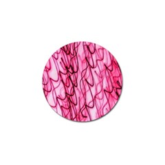 An Unusual Background Photo Of Black Swirls On Pink And Magenta Golf Ball Marker by Amaryn4rt