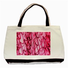 An Unusual Background Photo Of Black Swirls On Pink And Magenta Basic Tote Bag by Amaryn4rt