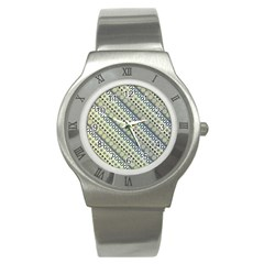 Abstract Seamless Pattern Stainless Steel Watch by Amaryn4rt