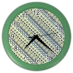 Abstract Seamless Pattern Color Wall Clocks by Amaryn4rt