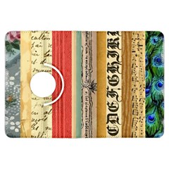 Digitally Created Collage Pattern Made Up Of Patterned Stripes Kindle Fire Hdx Flip 360 Case by Amaryn4rt