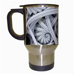 Fractal Wallpaper Black N White Chaos Travel Mugs (white) by Amaryn4rt