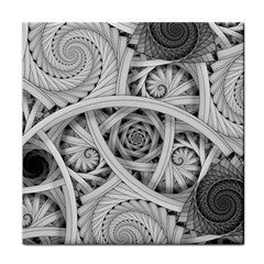 Fractal Wallpaper Black N White Chaos Face Towel by Amaryn4rt