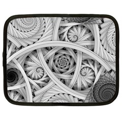 Fractal Wallpaper Black N White Chaos Netbook Case (xl)  by Amaryn4rt