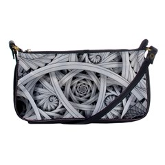 Fractal Wallpaper Black N White Chaos Shoulder Clutch Bags by Amaryn4rt