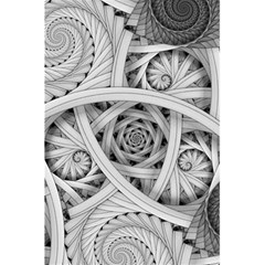 Fractal Wallpaper Black N White Chaos 5 5  X 8 5  Notebooks by Amaryn4rt