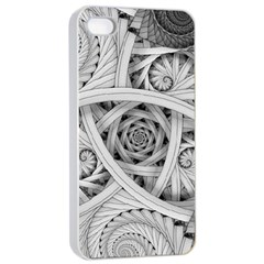 Fractal Wallpaper Black N White Chaos Apple Iphone 4/4s Seamless Case (white) by Amaryn4rt