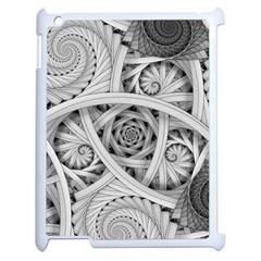 Fractal Wallpaper Black N White Chaos Apple Ipad 2 Case (white) by Amaryn4rt