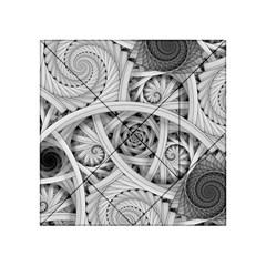Fractal Wallpaper Black N White Chaos Acrylic Tangram Puzzle (4  X 4 ) by Amaryn4rt