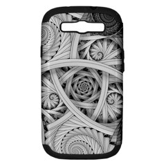 Fractal Wallpaper Black N White Chaos Samsung Galaxy S Iii Hardshell Case (pc+silicone) by Amaryn4rt