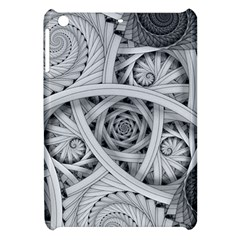 Fractal Wallpaper Black N White Chaos Apple Ipad Mini Hardshell Case by Amaryn4rt