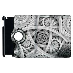 Fractal Wallpaper Black N White Chaos Apple Ipad 2 Flip 360 Case by Amaryn4rt