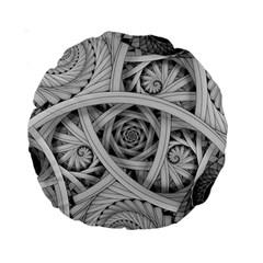 Fractal Wallpaper Black N White Chaos Standard 15  Premium Round Cushions by Amaryn4rt