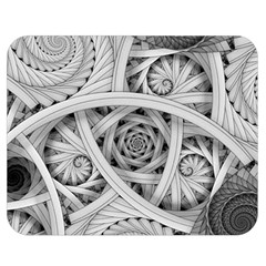 Fractal Wallpaper Black N White Chaos Double Sided Flano Blanket (medium)  by Amaryn4rt