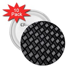 Abstract Of Metal Plate With Lines 2.25  Buttons (10 pack)
