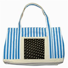 Abstract Of Metal Plate With Lines Striped Blue Tote Bag by Amaryn4rt
