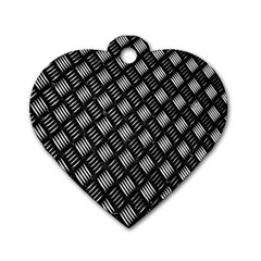 Abstract Of Metal Plate With Lines Dog Tag Heart (one Side) by Amaryn4rt