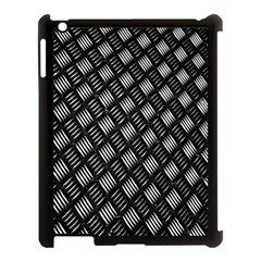 Abstract Of Metal Plate With Lines Apple Ipad 3/4 Case (black) by Amaryn4rt