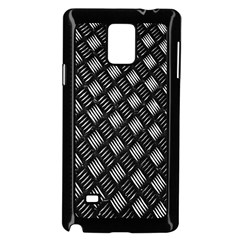 Abstract Of Metal Plate With Lines Samsung Galaxy Note 4 Case (Black) by Amaryn4rt