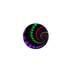 Fractal Background With High Quality Spiral Of Balls On Black 1  Mini Magnets by Amaryn4rt