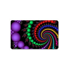 Fractal Background With High Quality Spiral Of Balls On Black Magnet (name Card) by Amaryn4rt