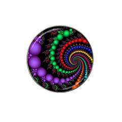 Fractal Background With High Quality Spiral Of Balls On Black Hat Clip Ball Marker by Amaryn4rt