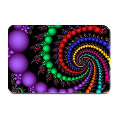 Fractal Background With High Quality Spiral Of Balls On Black Plate Mats by Amaryn4rt